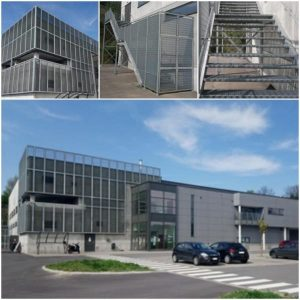 Facade + Staircase Sports Hall Herstal